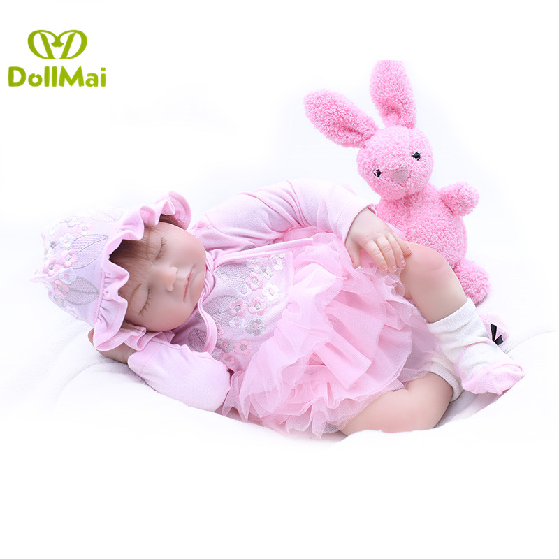 DollMai real newborn baby girl doll 2050cm silicone reborn baby dolls toys for kids gift bebe real reborn bonecas DollMai real newborn baby girl doll 2050cm silicone reborn baby dolls toys for kids gift bebe real reborn bonecas
