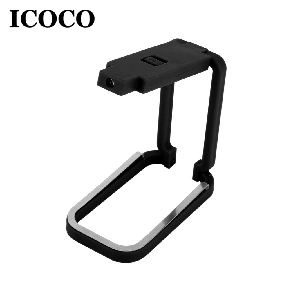2018 New ICOCO 1pcs Portable Mini 2 LEDs Clip-on Book Light Battery Operated Night Light ...