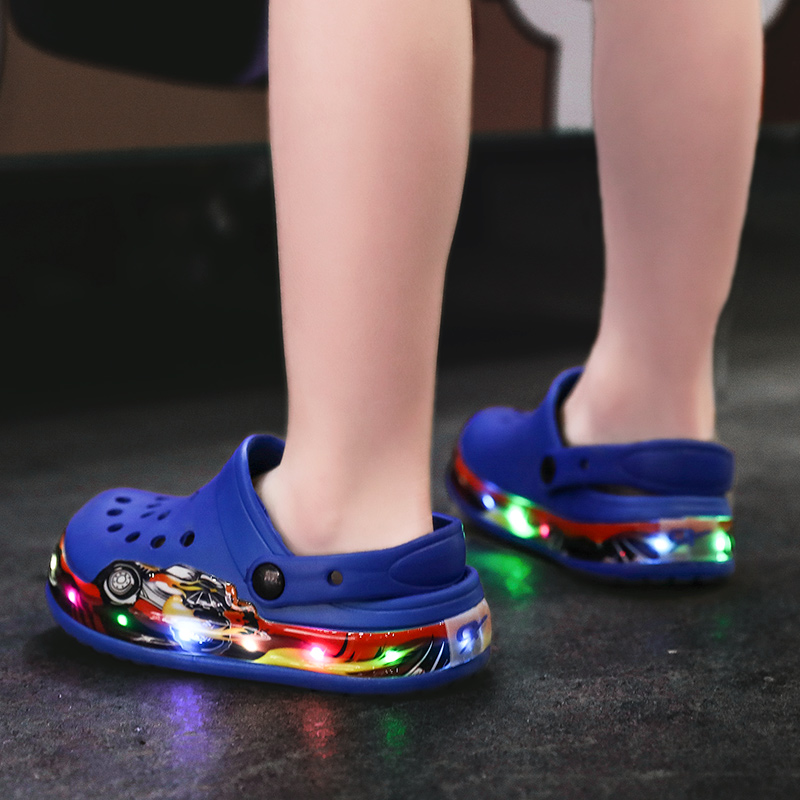 Kids Shoes Childrens Glowing Outdoor Beach Aqua Sneakers Led Luminous Shoes for Girls Boys Footwear Slippers Blue Size 25-32Kids Shoes Childrens Glowing Outdoor Beach Aqua Sneakers Led Luminous Shoes for Girls Boys Footwear Slippers Blue Size 25-32