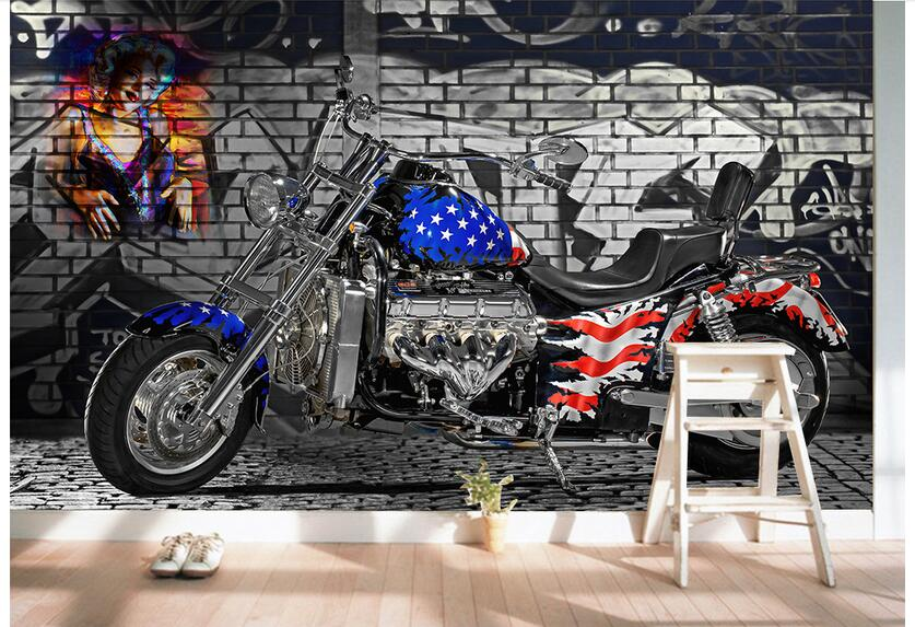 Custom photo 3d wallpaper Non-woven mural wall sticker American flag motorcycles painting picture 3d wall room murals wallpaper custom photo 3d wallpaper non woven mural wall sticker british architecture painting picture 3d wall room murals wallpaper