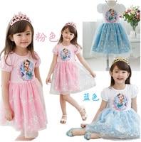 Girl Dress Nova Kids Brand Girl Party Princess Elsa Anna Dress For Weddings Summer Girls Fashion