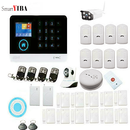 SmartYIBA GSM Alarm System for Home Security IOS/Android App Control Wireless Wifi Residential Alarm Home with Outdoor Camera IPSmartYIBA GSM Alarm System for Home Security IOS/Android App Control Wireless Wifi Residential Alarm Home with Outdoor Camera IP