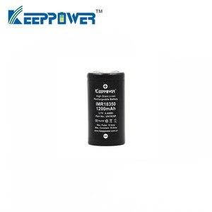 Image 2 - 1 Pcs Keeppower IMR 18350 IMR18350 1200mAh 10A UH1835P di scarico Li Ion ricaricabile batteria Ad Alta Scarico Originale