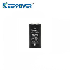 Image 2 - 1 Pcs Keeppower IMR 18350 IMR18350 1200mAh 10A discharge UH1835P Li ion rechargeable battery High Drain Original
