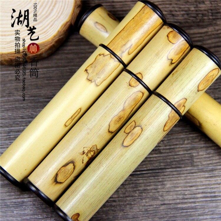 Gourmet bambou papillon bref paragraphe joss bâton aloes lie encens tambour diamètre taille 1.5 tube boîte il y a de l'équipement