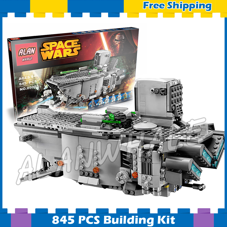845pcs New Space Wars First Order Transporter 05003 Model Building Blocks Phasma Kids Gifts Sets Compatible With Lego