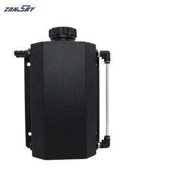 TANSKY Universal 2L Kühlmittel Kühler Überlauf Recovery Wasser Tank Flasche Aluminium EPYXFST011