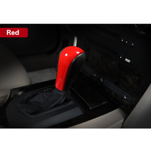 New 1pc Bright Red Gear Sticker Car Shift ABS Cover Decoration Trim For BMW E60 2004-2007