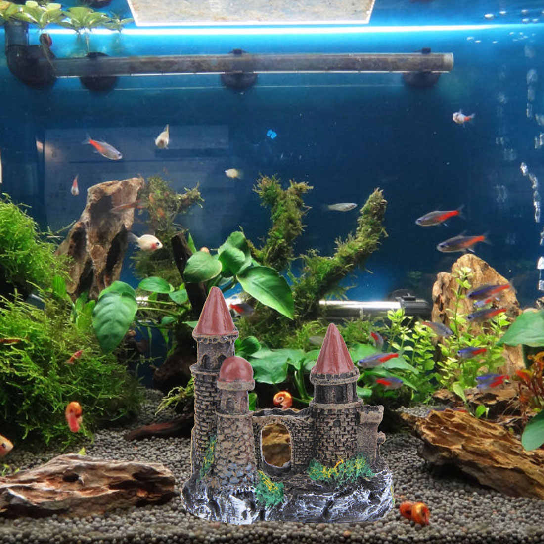 Yaochen Resin Cartoon Castle Aquariums