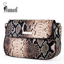 FUNMARDI Brand Snake Designer Women Bag Chain Strap Shoulder Bags Smal