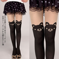 Japanese Girls Silk 3D cartoon rabbit panda cat bear high tube socks Sexy Cut Knee High stockings for uniforms cosplay costume