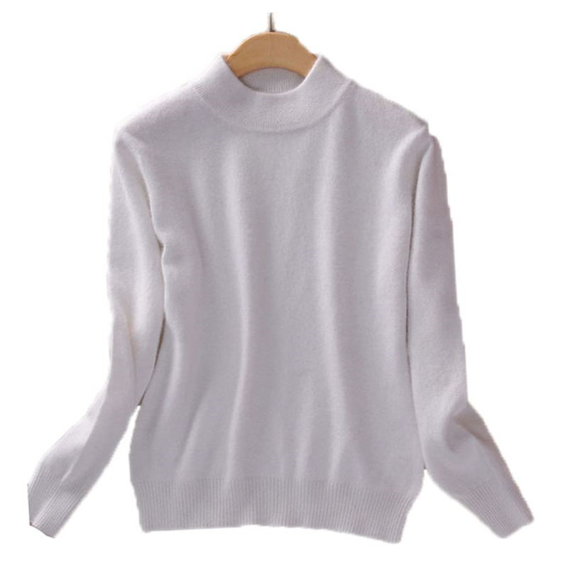 Autumn Winter Women Knitted Pullovers Sweaters Ladies Tops High Quality Sweaters Female Long Sleeve Half Turtleneck Sweaters O20