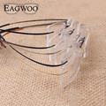 Pure titanium óculos frame ótico rimless flexiable templo prescrição espetáculo óculos sem armação de óculos 010 linha