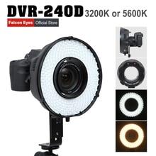 Shake TV LED Ring Light Panel Dimmable Selfie Lighting Video Film Continuous Macro Lamp W/Camera Bracket/ filter DVR-240D