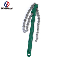 Boeray 27.5 Inch Heavy Duty Ratcheting Chain Wrench Oil Filter Tool Pipe Fittings Tools