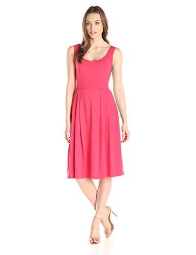 Midi Soft Jahre Kleider Dress Zu Flare rmelloses Elegante ssen Damen Anl 50er Weste U Ausschnitt allen Plissee Damen UzqVpSM