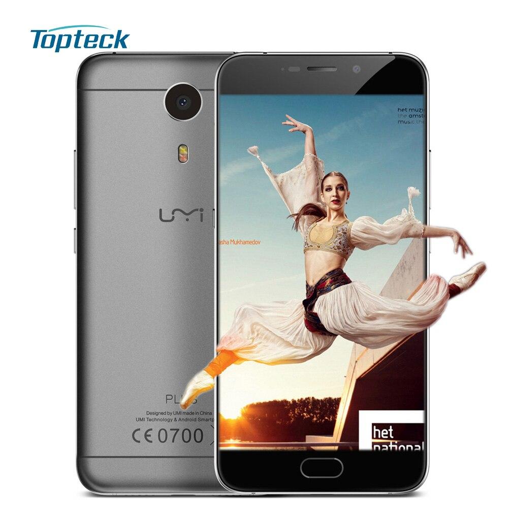 "bilder für Umi Plus 4G Fingerprint MTK6755 Octa-core Android 6.0 Smartphone 5,5 ""1920*1080 FHD Handy 4 GB + 32 GB 13MP 4000 mAh Handy"