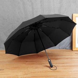 Image 3 - TOPX 2018 Nuovo Grande e Forte di Modo Antivento Degli Uomini Gentle Pieghevole Compatto Completamente Automatico Pioggia di Alta Qualità Tessuto di Seta Naturale Ombrello Delle Donne