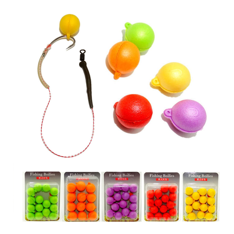 12MM Artificial Baits Pop Up Floating Smell Carp Fishing Baits Boilies Floating Ball Beads Feeder Artificial Carp Lure Hair Rigs image
