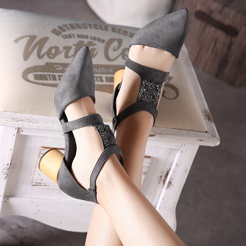 2016 New Chaussure Femme Zapatos Mujer Shoes font b Woman b font Pumps Square Heels Ladies