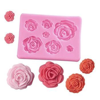 3D Rose Flower Shape Silicone Soap Mold Form Chocolate Cake Handmade Diy Fondant Decoration Making