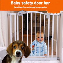 75~104 cm width Child gate hole-digging baby gate stair fence pet fence dog railing with 2 extensions