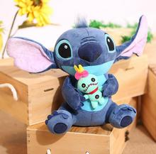 Hot Sale Cute Cartoon Lilo and Stitch Plush Toy Soft Stuffed Animal Dolls Best Gift for Children Kids Toy