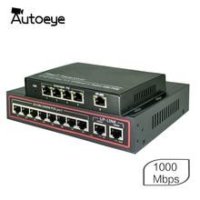 Autoeye 4/8 יציאת 1000 1000mbps POE תואם רשת מצלמות IEEE 802.3af (15.4 w) 1000 Gigabit Ethernet מתג