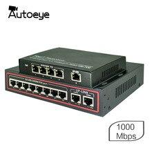 Autoeye 4/8 port 1000 mb/s przełącznik poe kompatybilne kamery sieciowe IEEE 802.3af (15.4 W) 1000 gigabitowy włącznik ethernet