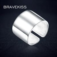 BEAVEKISS Big Classic Wide Adjustable 925 Sterling Silver Ring Finger Open Unisex Women Sample Ring Bijoux