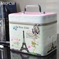The New Portable Multifunctional Women Make Up Box Cosmetic Bag Handbag Travel Toiletry Makeup Bag