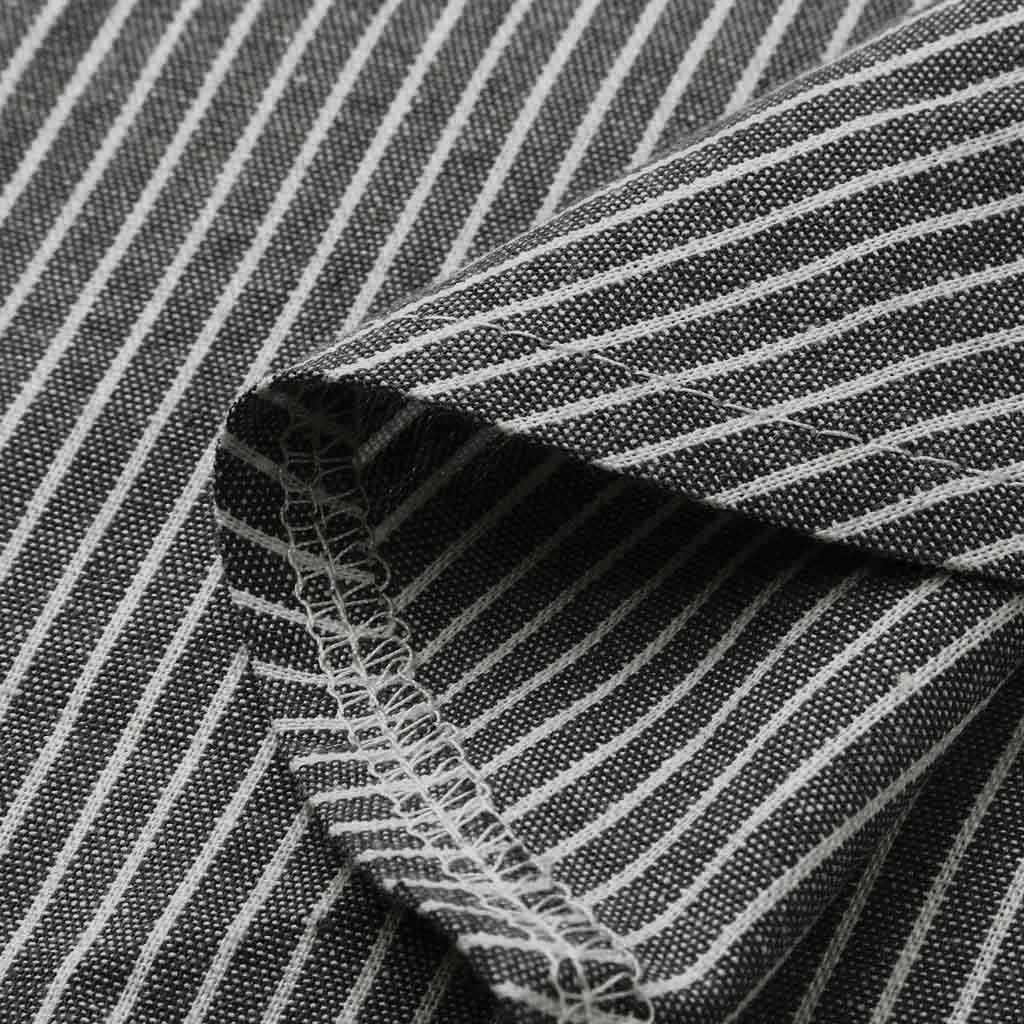 Feitong 2020 offre spéciale!! Femmes été rayure impression décontracté plage Vintage bouton lin poche longue robe ropa mujer sukienki # @ A