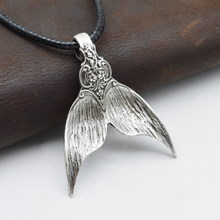 Fashion Mermaid Tail Pendant Whale Necklace Vintage Spoon Jewelry