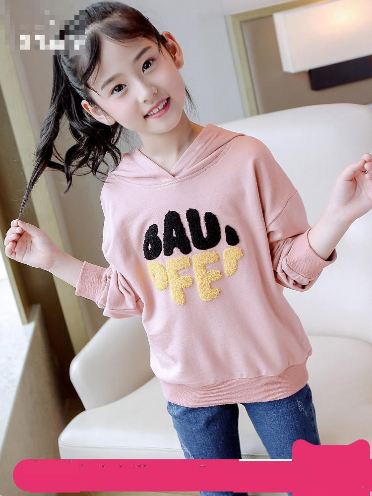 Hoodies For Girls Teenage 4 5 6 8 9 10 11 12 13 Years Sweatshirt For Girls Long Sleeve Letter Baby Girl Clothes Velvet Top letter print long sleeve sweatshirt dress page 8