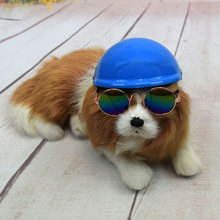Dog Cap for Cats Useful Pets Handsome Biker Hat Helmets Ridding Puppy Doggie Costumes AccessoriesMotorcycle Protect