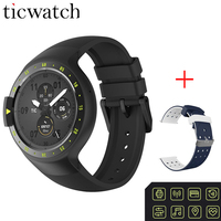 Ticwatch S Glacier Smart Watch Phone BT4.1 WIFI Passometer GPS Heart Rate Monitor Waterproof for Android/iOS + One Free Atrap