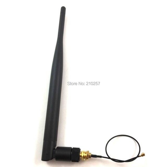 1 cái 2.4 ghz Wifi Mạng Ăng Ten 6dbi Omni Với Sma Nam Cắm + Sma Nữ để u. fl Ipex Cáp RF 1.13 15 cm cho Wieless Router