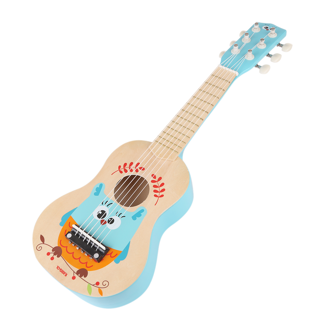 NFSTRIKE 21 Inches 6 Strings Musical Instrument Guitar Gift For Children Plastic Kid Baby Girls Guitar Toy  - Owl Pattern