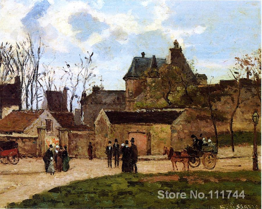 online art gallery The Court House Pontois Camille Pissarro Landscape paintings Hand painted High quality