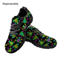 Nopersonality Novelty Frog Print Women Flat Walking Shoes Cute Female Ladies Mesh Sneakers Breathable Spring Autumn Mesh Shoes