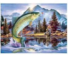 DiyDiamond Painting Fish Picture Rhinestone 5d Mosaic Full Square Diamond Embroidery Animal Home Decorations Christmas