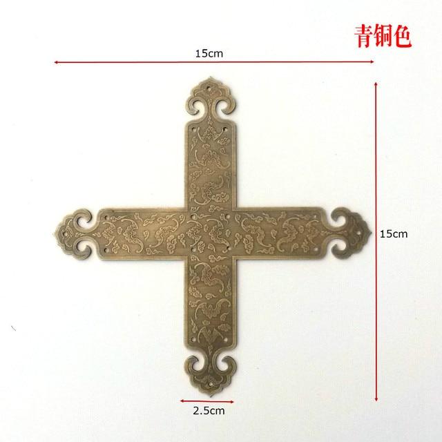 Китайский антикварная мебель, медь двери угол охвата T тип двери рог сплайн медью угол защиты аппаратных аксессуаров рог