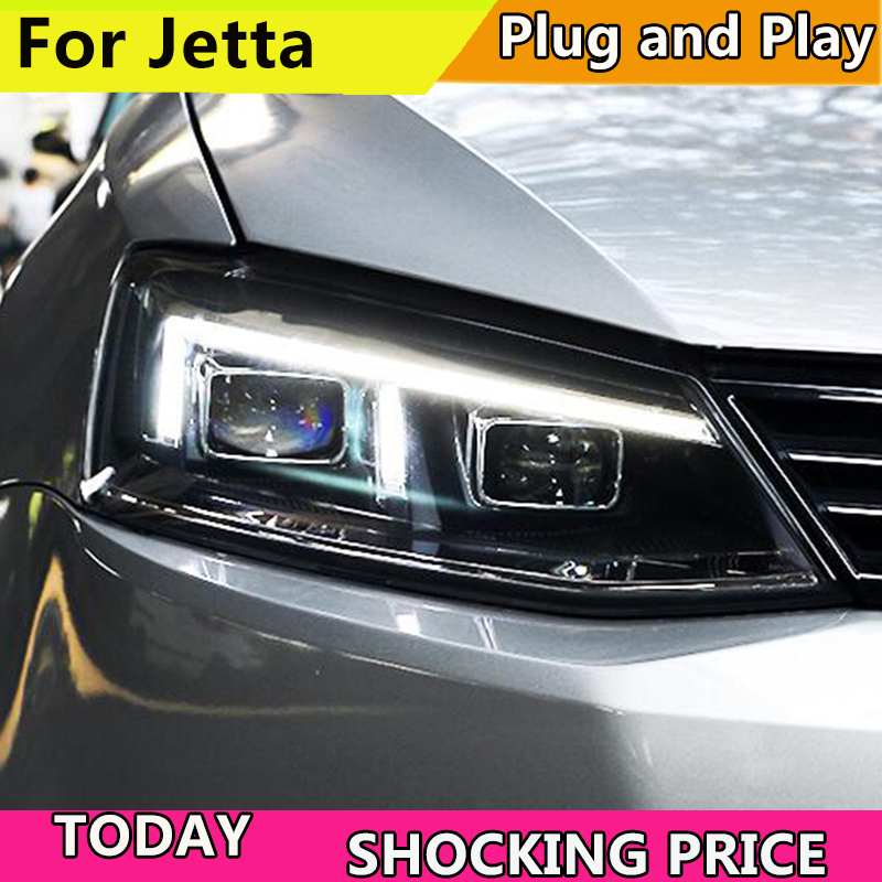 Car Styling Head Lamp for Jetta MK6 LED Headlight A5 Design Jetta LED DRL LED High