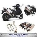 Conector da tubulação de exaustão da motocicleta para yamaha tmax 530 500