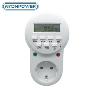 Image 1 - مقبس توقيت NTONPOWER مقبس طاقة ذكي بمقبس أوروبي قابل للبرمجة مفتاح مؤقت رقمي إلكتروني موفر للطاقة 220 فولت 16A