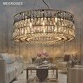 Современная хрустальная люстра  Подвесная лампа в форме кольца  люстра в гостиной  светильник для спальни