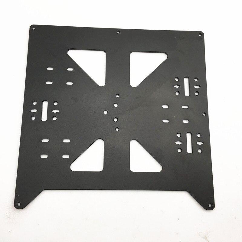 1 шт. Reprap Prusa i3/Anycubic MEGA i3 анодированный алюминиевый сплав Подогреваемая кровать Поддержка Y Каретный лоток для 3D принтера