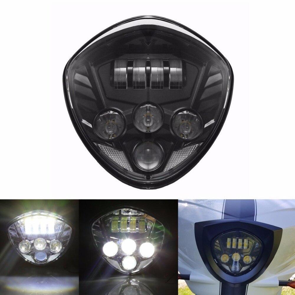 Motorrad 40 Watt Cre LED Scheinwerfer lampe Schwarz H/L Strahl Für Sieg cross land - 2