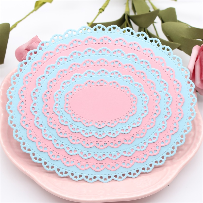KLJUYP Oval Lace Frame Metal Cutting Dies Scrapbook Paper Craft Decoration dies scrapbooking(China)