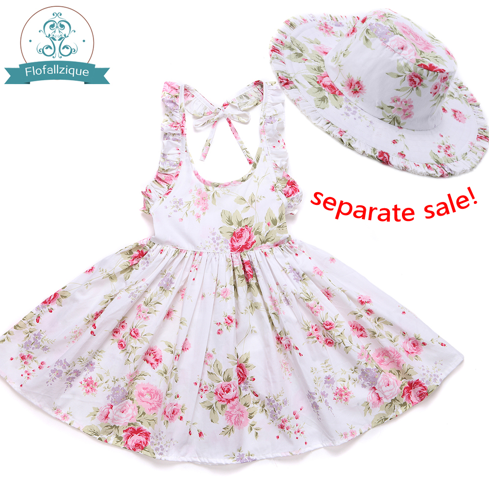 f368f1a32acf Baby Girls Dress Brand Summer Beach Style Floral Print Party Backless  Dresses For Girls Vintage Toddler Girl Clothing 1 8Yrs-in Dresses from  Mother   Kids ...